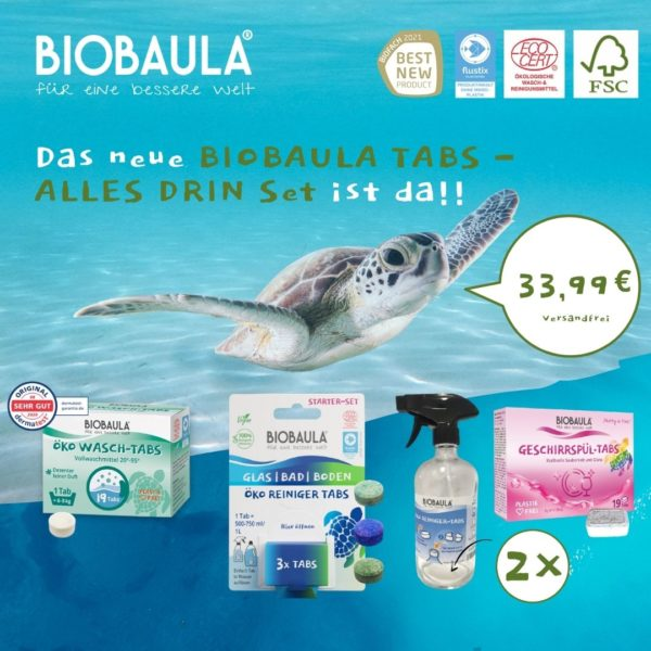 Alles drin Biobaula Tabs Set Start schildkröte